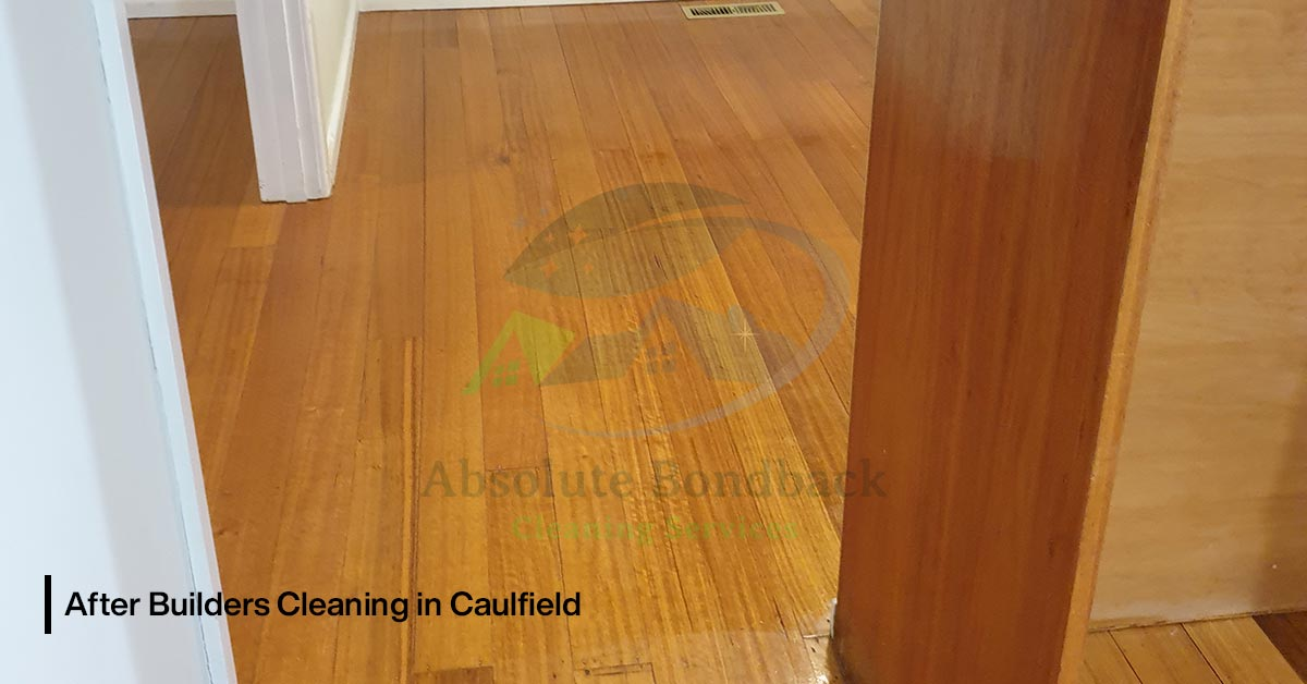 After Builders Cleaning floor
